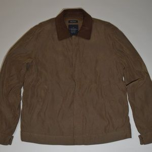 Nautica Cotton Sport Coat with Leather trim